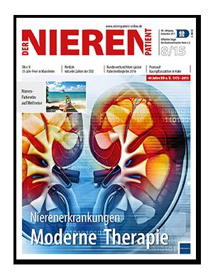 Titelseite von Der Nierenpatient 08/2015