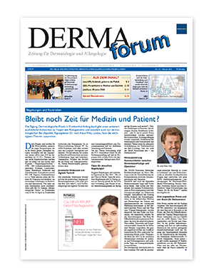 Titelseite von DERMAforum 01/2016