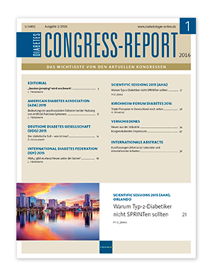 Titelseite von Diabetes-Congress-Report 01/2016