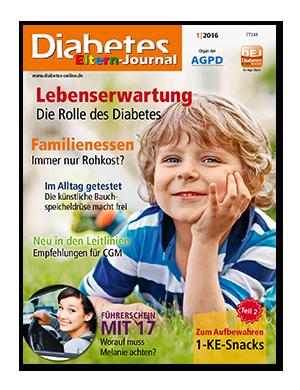 Titelseite von Diabetes-Eltern-Journal 01/2016