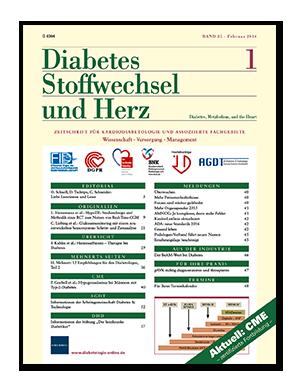 Titelseite von Diabetes, Stoffwechsel und Herz 01/2016