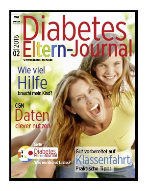 Titelseite von Diabetes-Eltern-Journal 02/2018