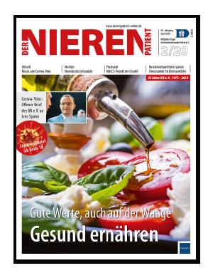 Titelseite von Der Nierenpatient 02/2020
