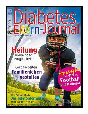 Titelseite von Diabetes-Eltern-Journal 02/2020