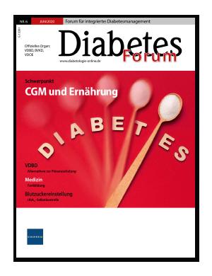 Titelseite von Diabetes-Forum 06/2020