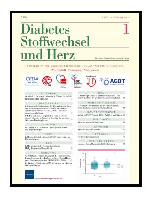 Titelseite von Diabetes, Stoffwechsel und Herz 01/2020