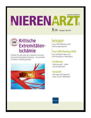 Titelseite von Der Nierenarzt 01/2020