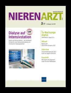 Titelseite von Der Nierenarzt 02/2021