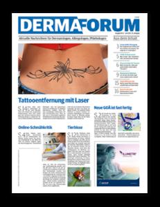 Titelseite von DERMAforum 06/2021