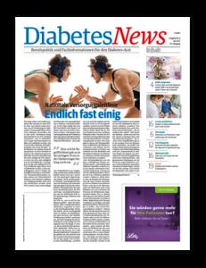 Titelseite von Diabetes News 04/2021