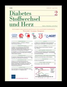 Titelseite von Diabetes, Stoffwechsel und Herz 04/2021